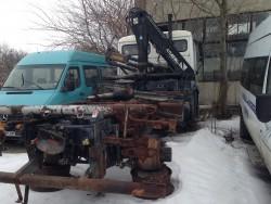 Бордови камион с кран МАН 18.224