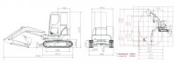 Mini Excavator SUNWARD SWE30UB