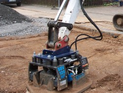 Stehr Compaction Attachments SBV 60 and 120 for excavators
