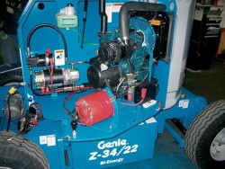 Хибридна артикулираща вишка Genie Z-34/22 DC & Bi-Energy