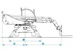 Rotating Rough Terrain Telehandler Genie GTH-4016 R